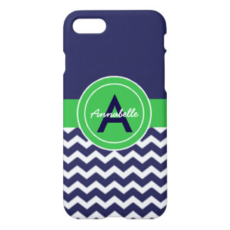 Dark Blue Green Chevron iPhone 8/7 Case