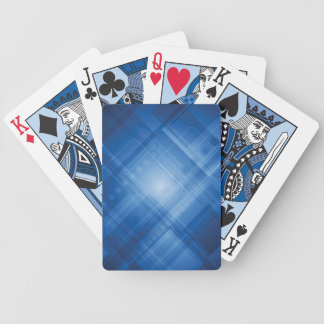Dark blue hi-tech background bicycle playing cards