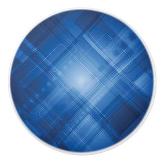 Dark blue hi-tech background ceramic knob
