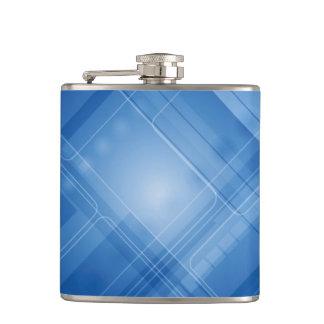 Dark blue hi-tech background hip flask