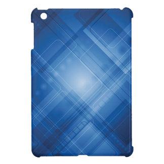 Dark blue hi-tech background iPad mini cases