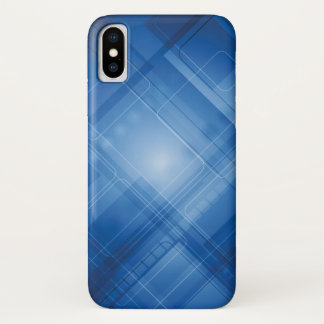 Dark blue hi-tech background iPhone x case