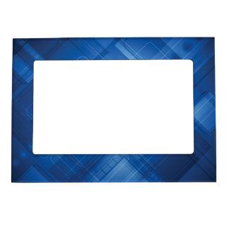 Dark blue hi-tech background magnetic picture frame