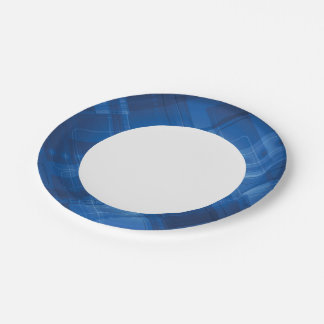 Dark blue hi-tech background paper plate