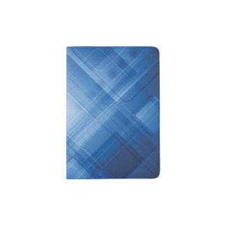 Dark blue hi-tech background passport holder