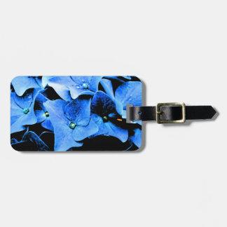 Dark Blue Hydrangea Luggage Tag