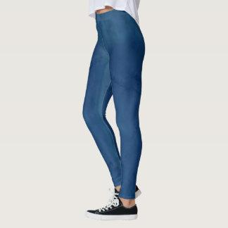 Dark Blue Jean Leggings