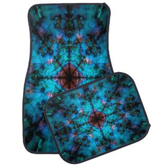 Dark blue kaleidoscope pattern car mat