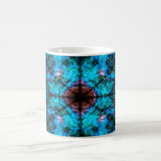 Dark blue kaleidoscope pattern coffee mug