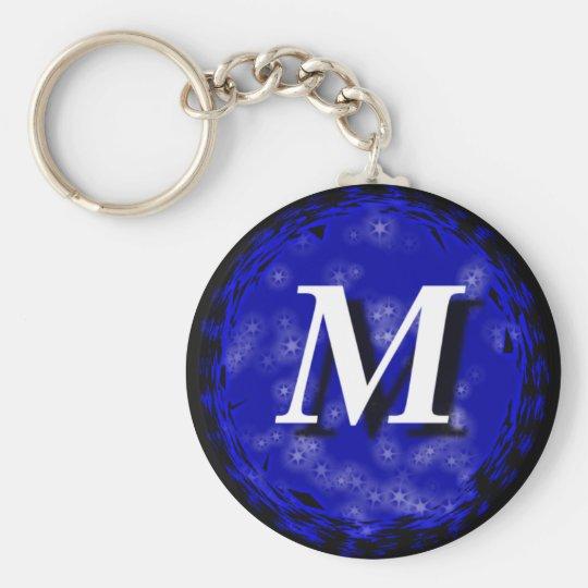 Dark Blue M Key Ring