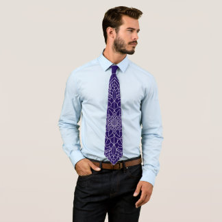 Dark Blue Mandala Tie