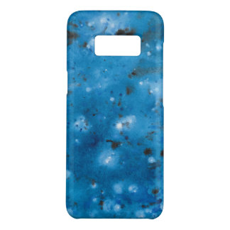 Dark Blue Marble Splat Case-Mate Samsung Galaxy S8 Case