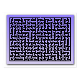 Dark Blue Maze Postcard