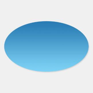 Dark Blue Ombre Oval Sticker