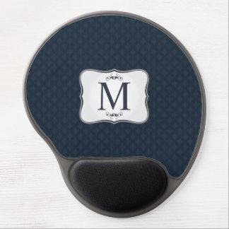 Dark Blue Pattern – Classy Men's Monogram Gel Mouse Pad