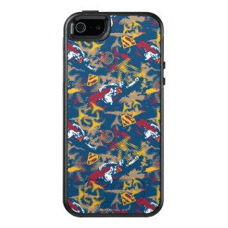 Dark Blue Pattern OtterBox iPhone 5/5s/SE Case