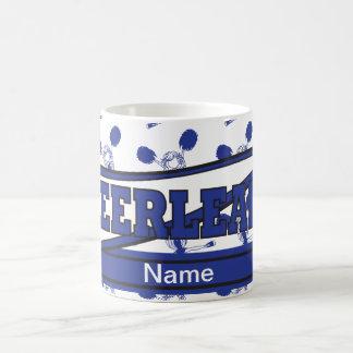 Dark Blue Personalize Cheerleader Basic White Mug