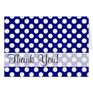 Dark Blue Polka Dots Card
