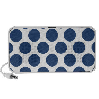 Dark Blue Polkadot iPhone Speakers