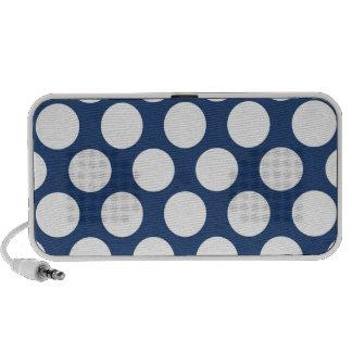 Dark Blue Polkadot Portable Speakers