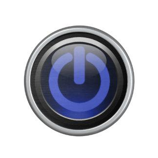 Dark Blue Power Button Bluetooth Speaker