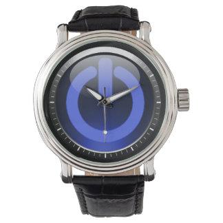 Dark Blue Power Button Watch