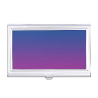 Dark Blue & Purple Ombre Case For Business Cards