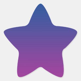 Dark Blue & Purple Ombre Star Sticker
