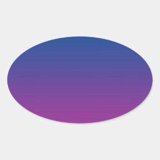 Dark Blue & Purple Ombre Oval Sticker