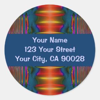 dark blue red abstract sticker