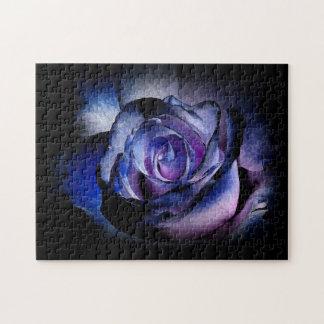 Dark Blue Rose Jigsaw Puzzle