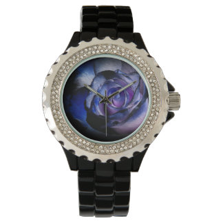 Dark Blue Rose Watch