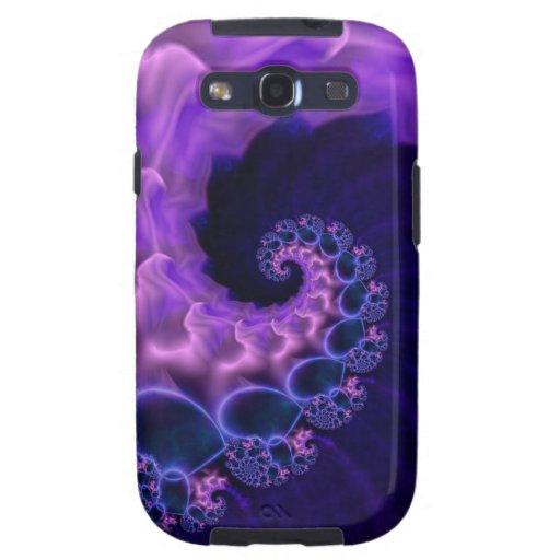 Dark Blue Satin Spiral Galaxy SIII Case