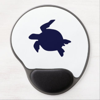 Dark Blue Sea Turtle Gel Mouse Mat