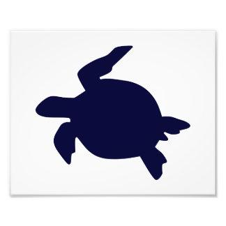 Dark Blue Sea Turtle Horizontal B Photo Print