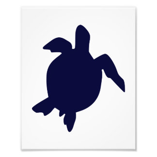 Dark Blue Sea Turtle Vertical B Photo Print
