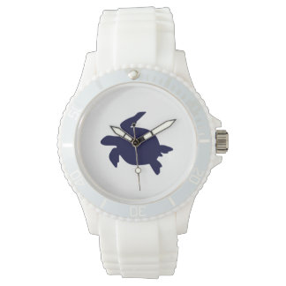 Dark Blue Sea Turtle Watch