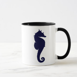 Dark Blue Seahorse Mug