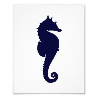 Dark Blue Seahorse Photo Print