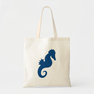 Dark Blue Seahorse Silhouette