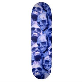 Dark Blue Skulls Skateboard Deck