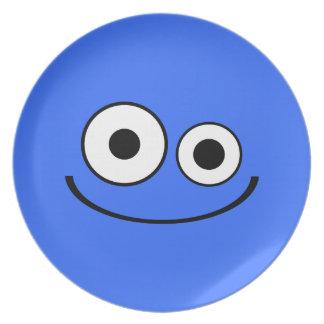 Dark Blue Smiley Plate