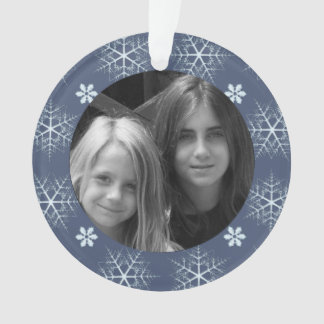 dark blue Snowflake Editable ornament