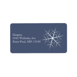 dark blue Snowflake Label