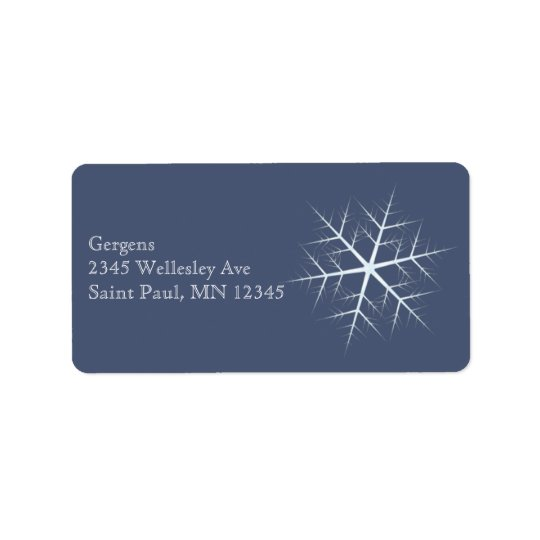 dark blue Snowflake Label