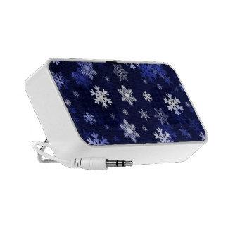Dark Blue Snowflakes Mini Speaker