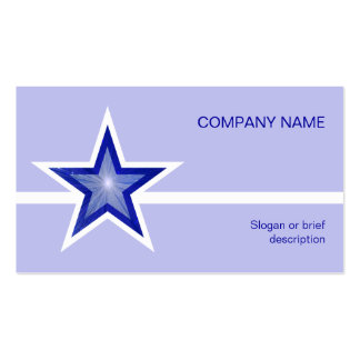 Dark Blue Star white line pale blue Business Cards