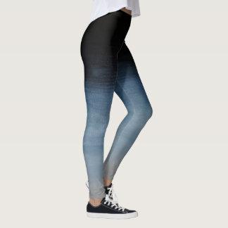 Dark Blue to Grey Ombre Leggings