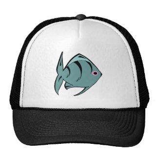 Dark Blue Tropical Fish Mesh Hats