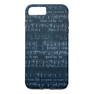 Dark Blue Vintage Music iPhone 7 Plus Case